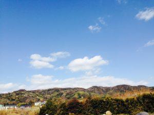里山の空 写真